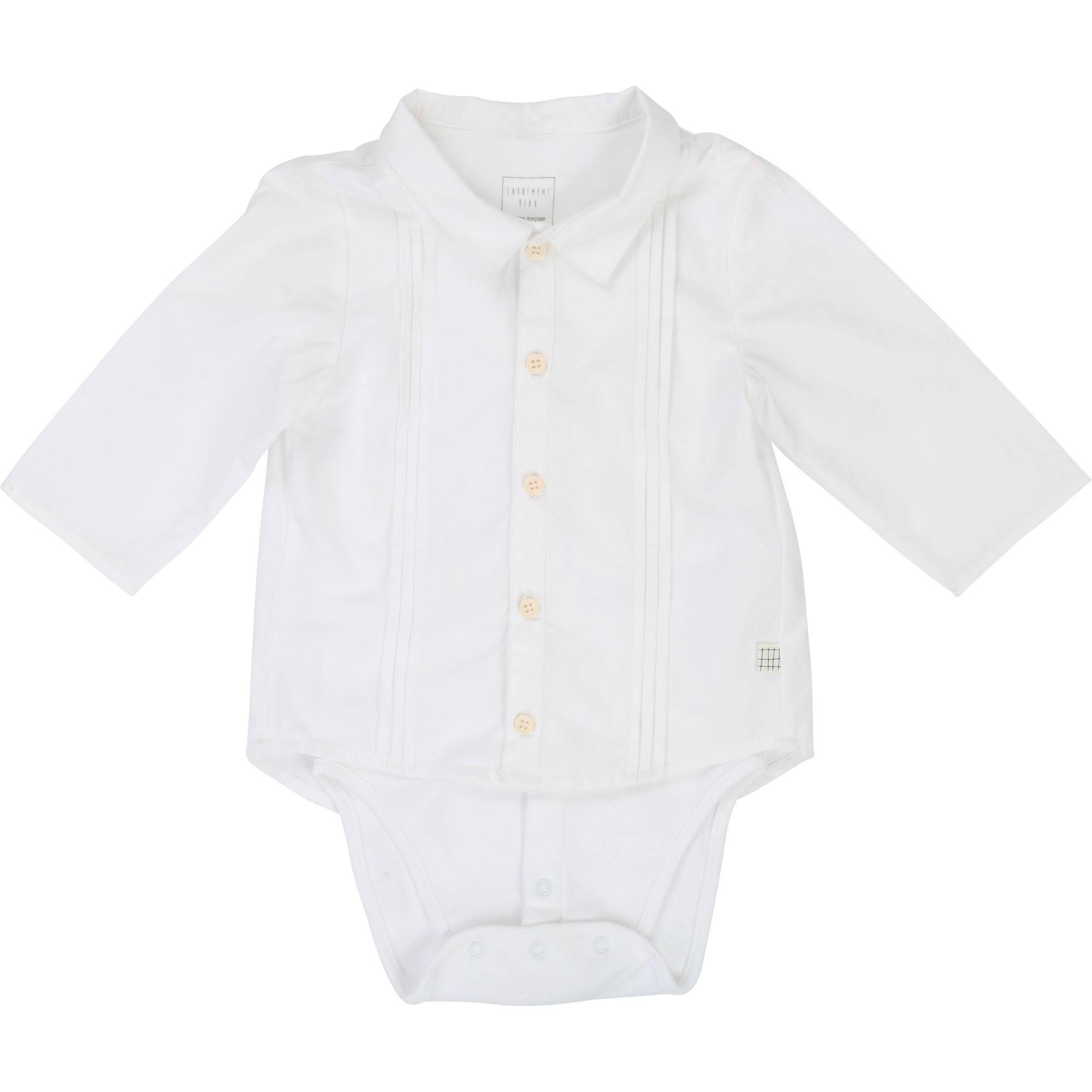 Body-chemise CARREMENT BEAU BEBE COUCHE GARCON Blanc