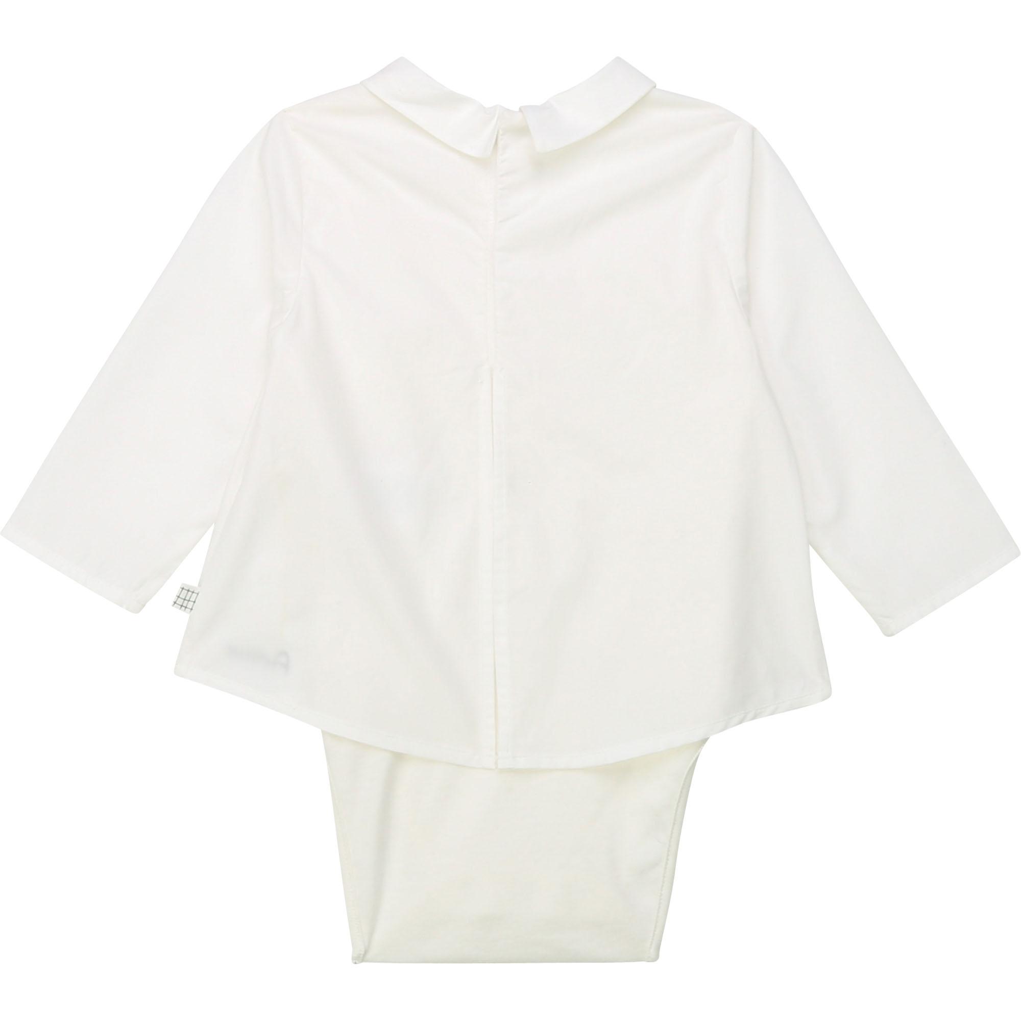 Body coton façon chemise CARREMENT BEAU BEBE COUCHE GARCON Blanc