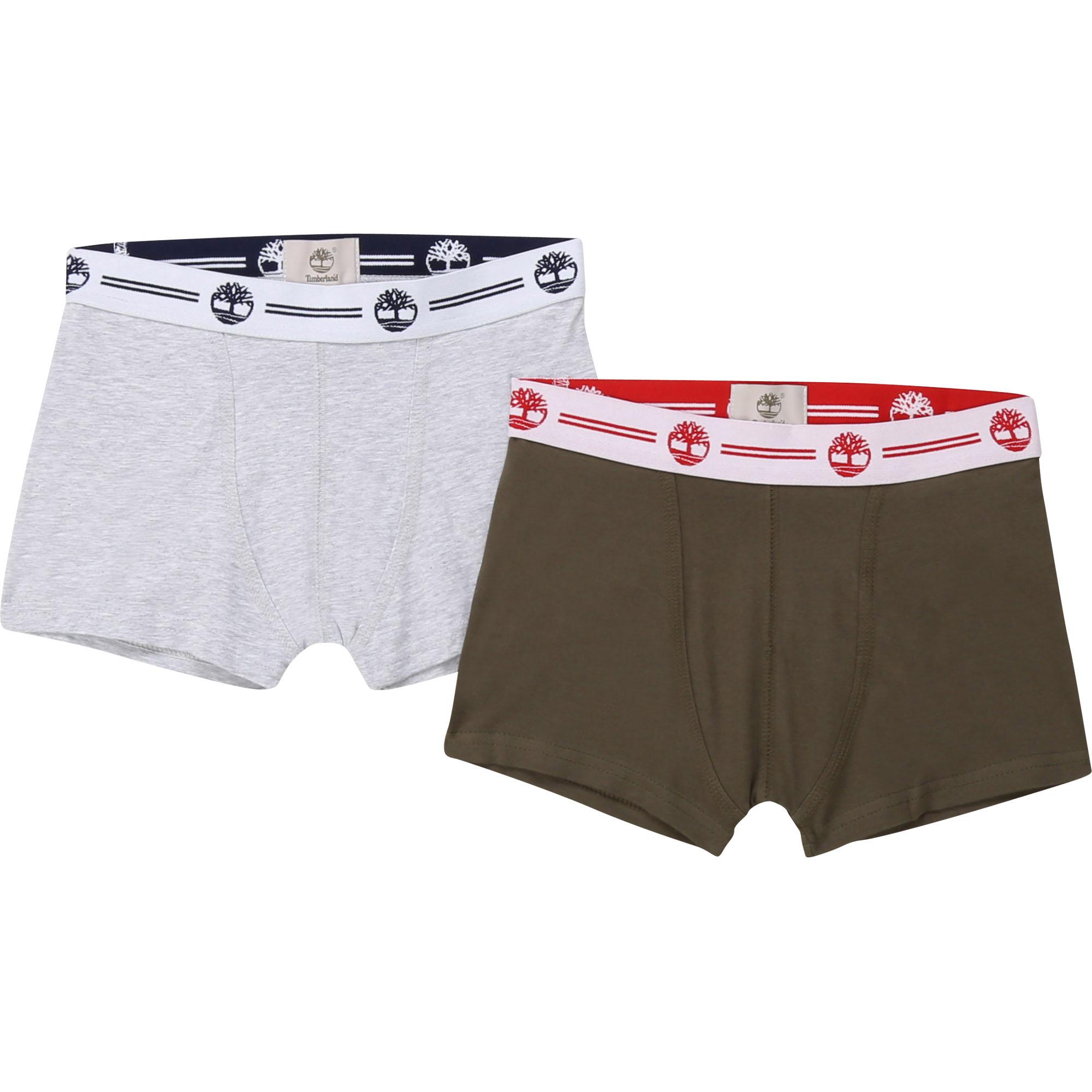 Lot de boxers en jersey coton TIMBERLAND ENFANT GARCON Vert