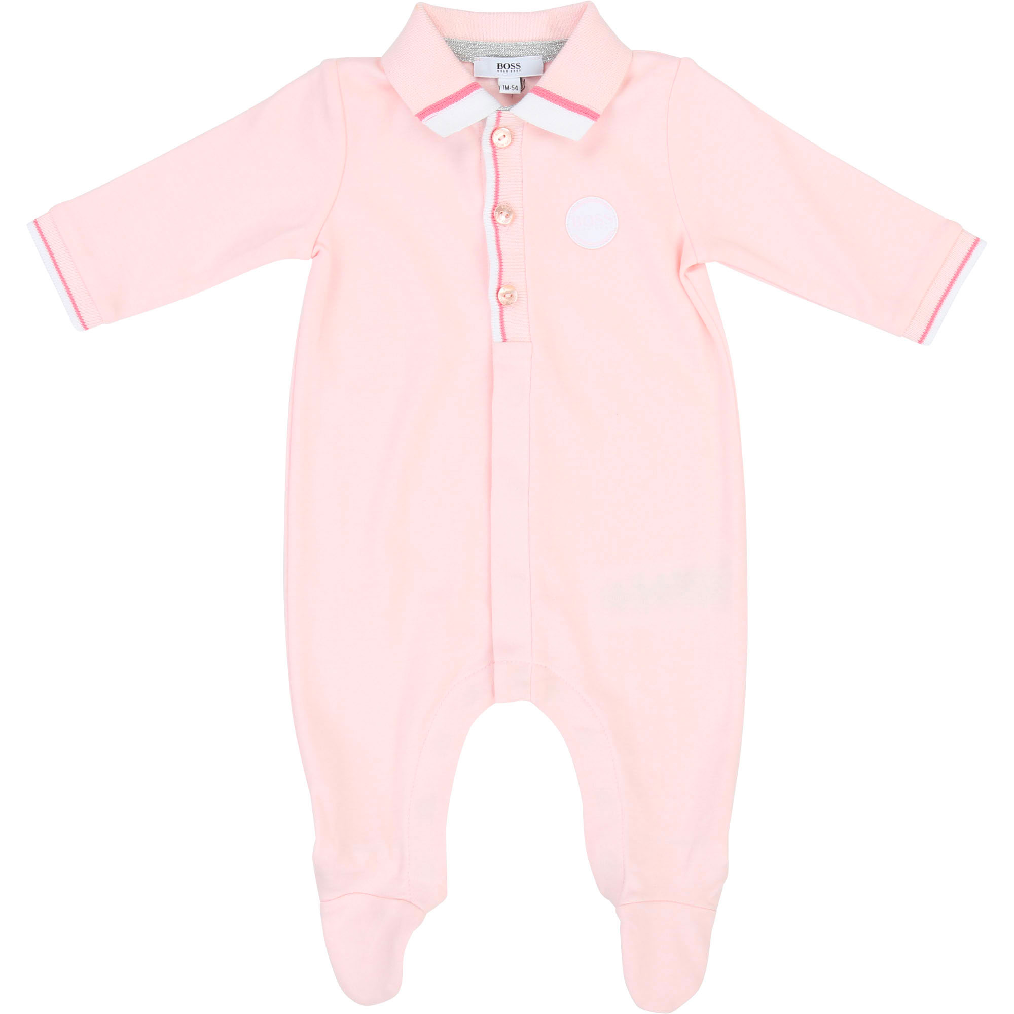 Pyjama coton BOSS BEBE COUCHE FILLE Rose