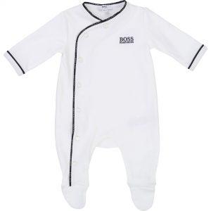 Pyjama coton BOSS BEBE COUCHE GARCON Blanc