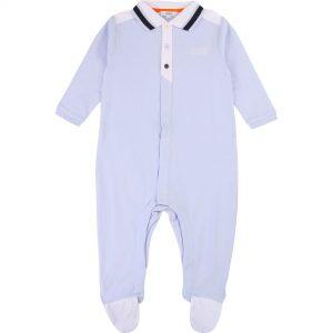 Pyjama coton BOSS BEBE COUCHE GARCON Bleu