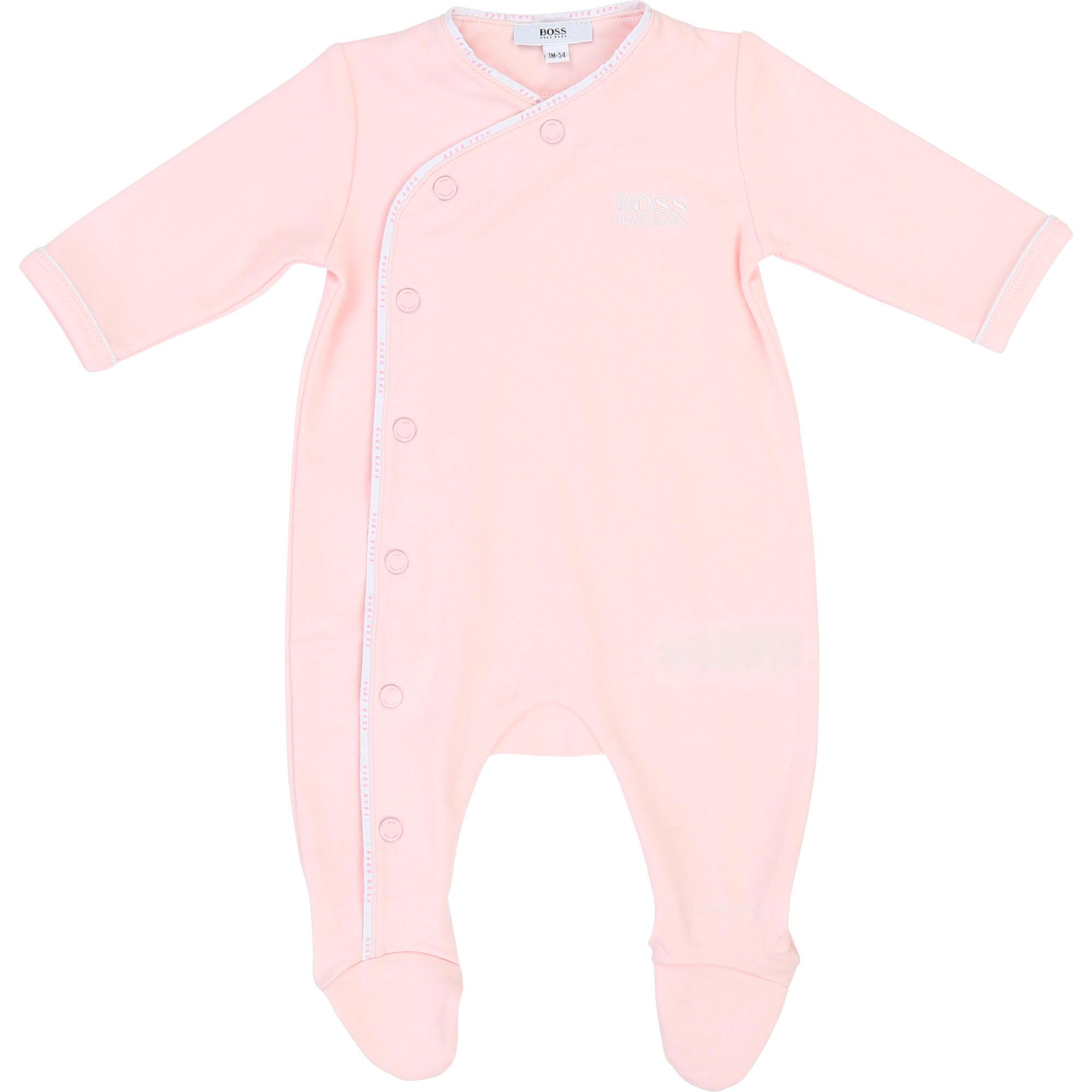 Pyjama coton BOSS BEBE COUCHE GARCON Rose