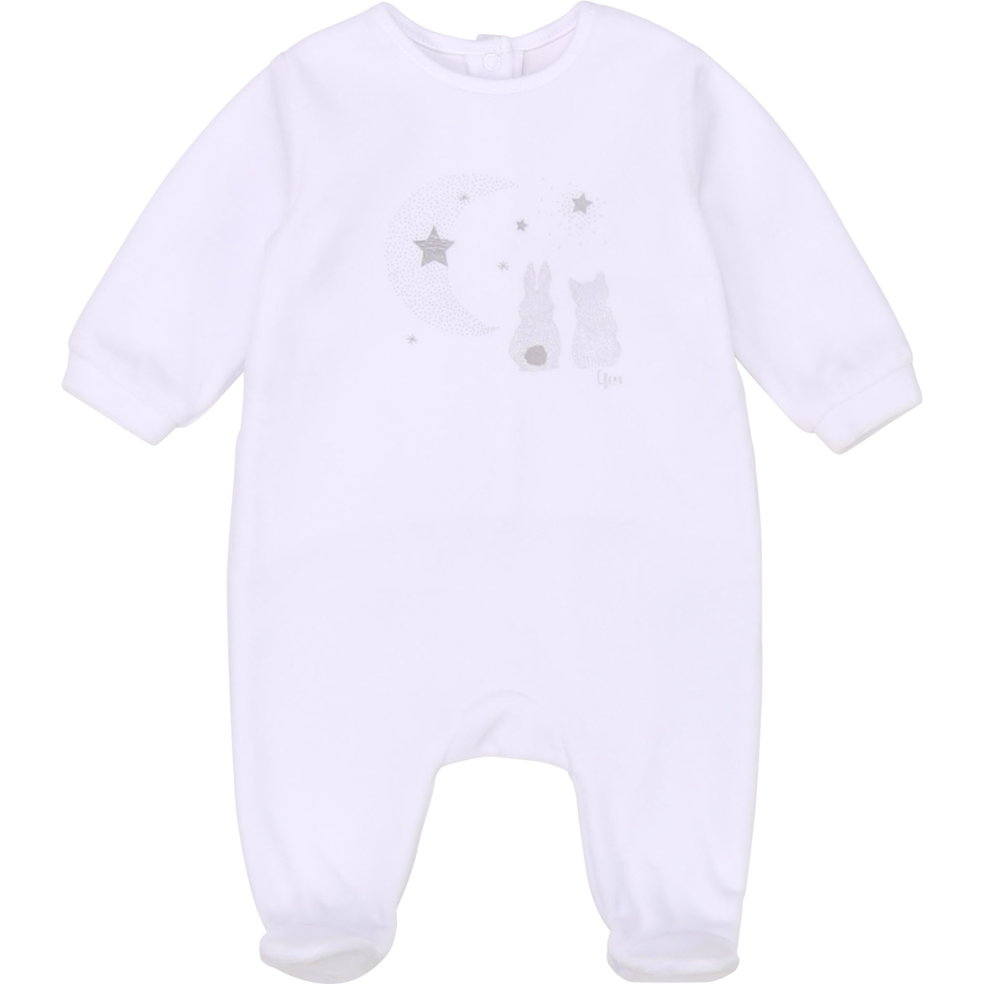 Pyjama coton bio majoritaire CARREMENT BEAU BEBE COUCHE GARCON Blanc