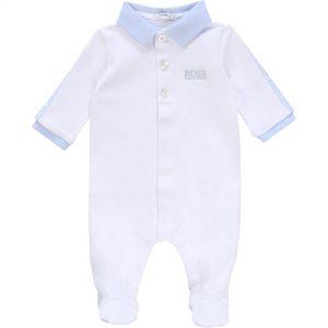 Pyjama en coton BOSS BEBE COUCHE GARCON Blanc