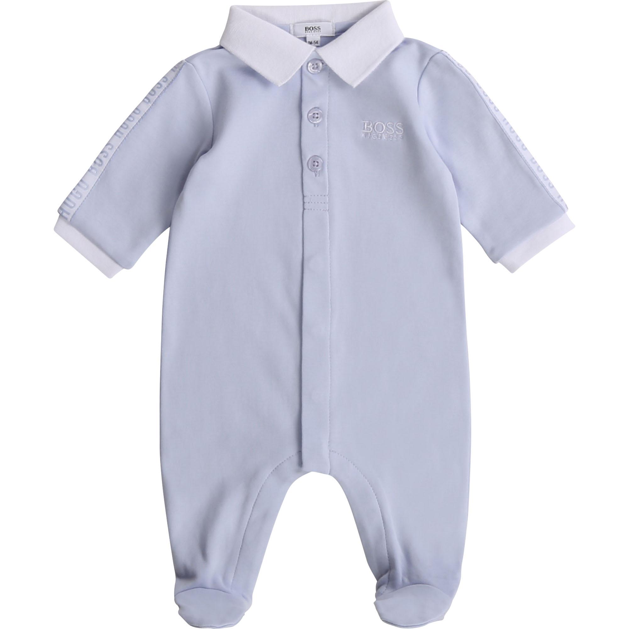 Pyjama en coton BOSS BEBE COUCHE GARCON Bleu