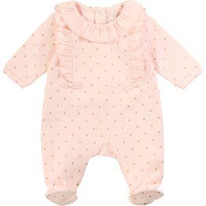 Pyjama en coton avec volants CARREMENT BEAU BEBE COUCHE FILLE Rose