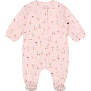Pyjama en coton bio CARREMENT BEAU BEBE COUCHE FILLE Rose
