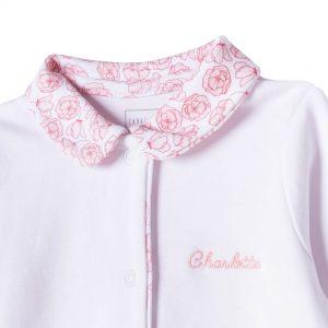Pyjama en coton biologique CARREMENT BEAU BEBE COUCHE FILLE Blanc