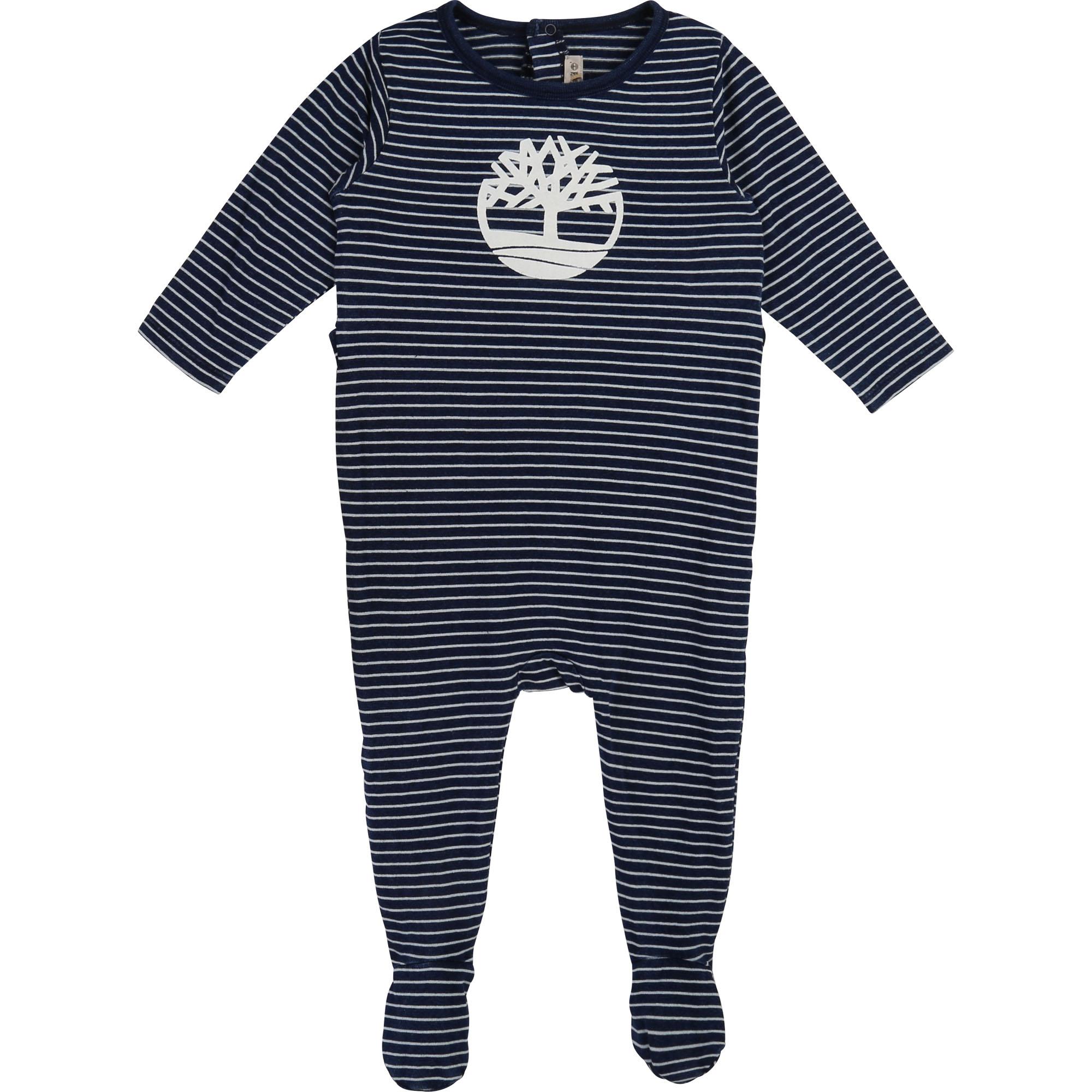 Pyjama en coton rayé TIMBERLAND BEBE COUCHE GARCON Indéterminé