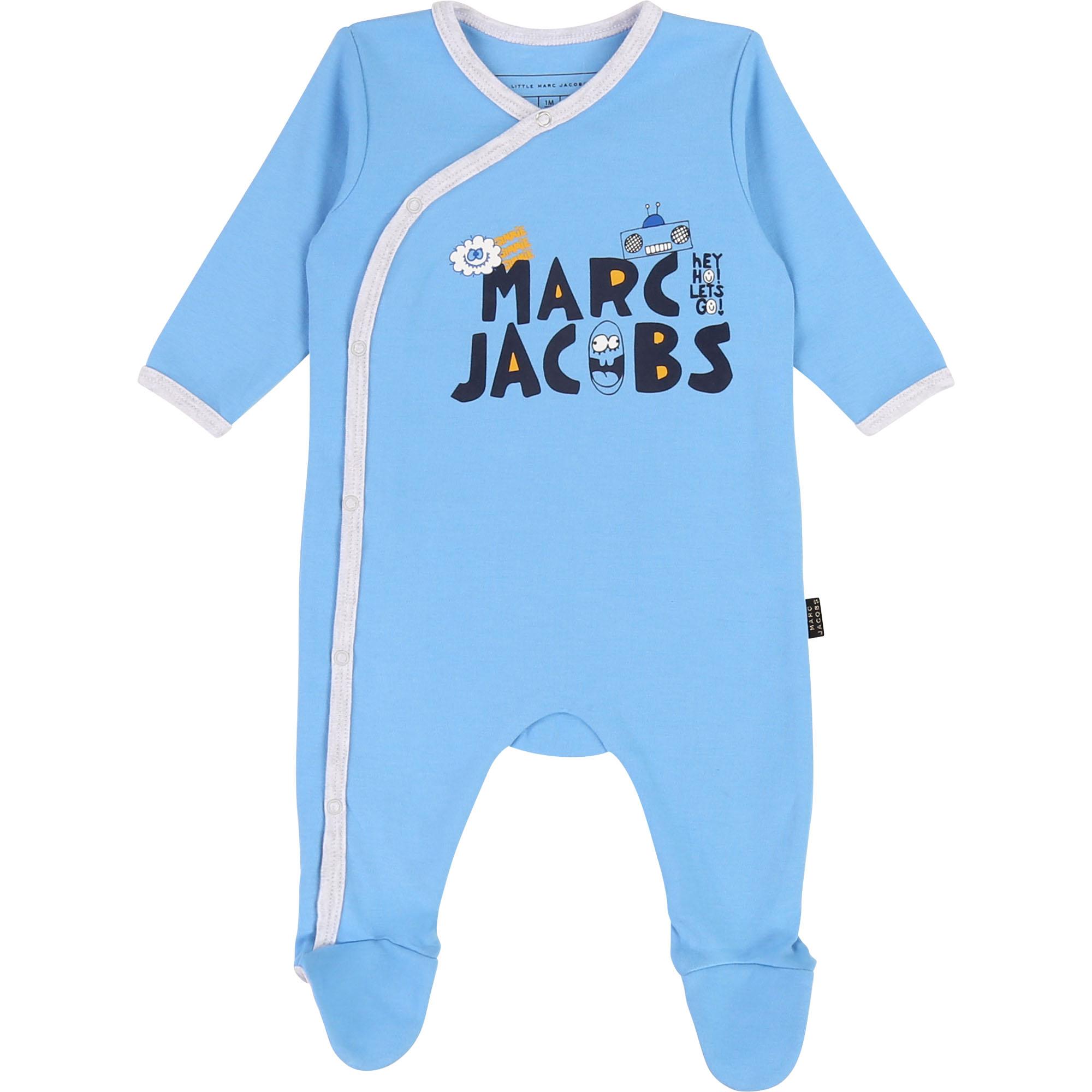 Pyjama en interlock fantaisie THE MARC JACOBS BEBE COUCHE UNISEXE Bleu