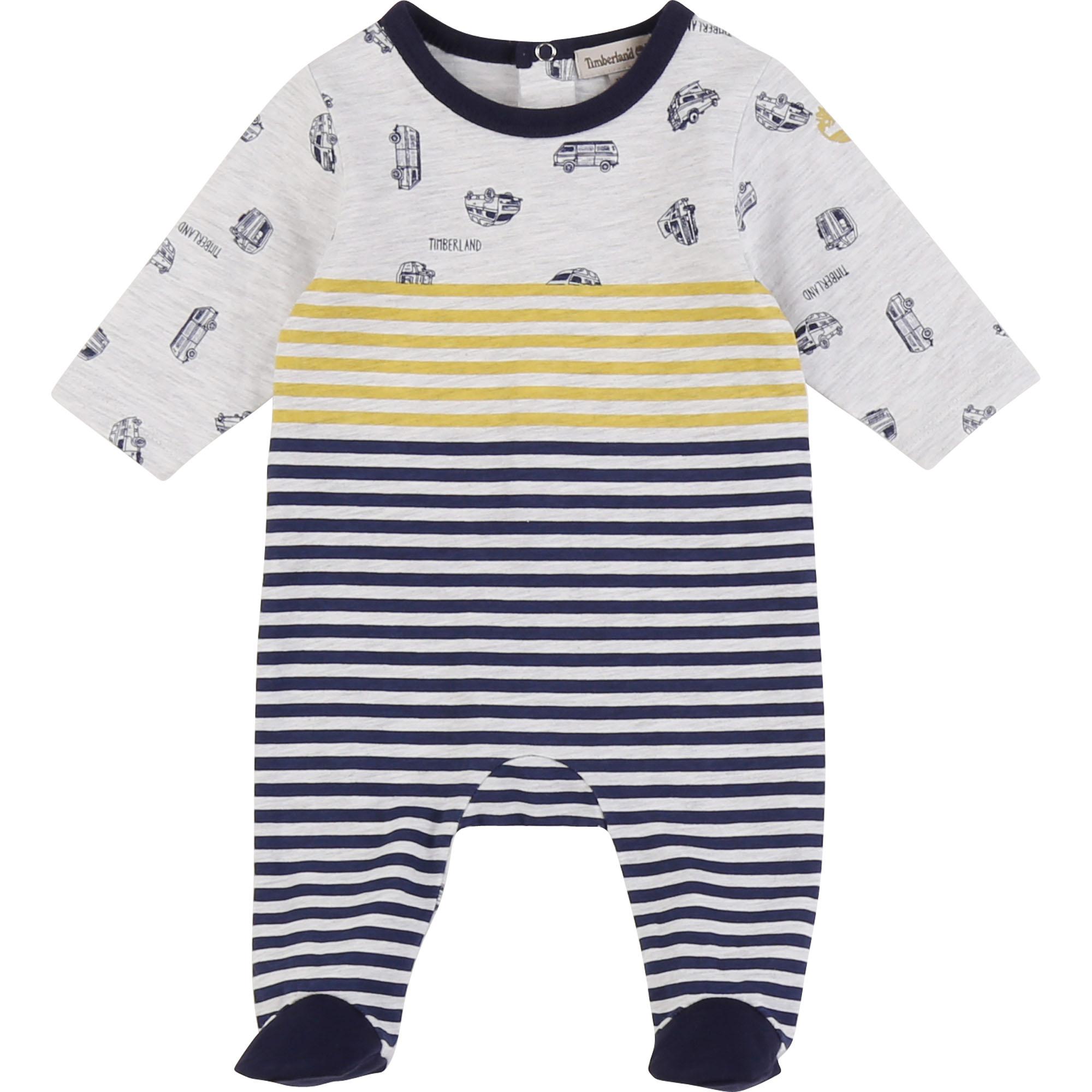 Pyjama en jersey coton imprimé TIMBERLAND BEBE COUCHE GARCON Gris