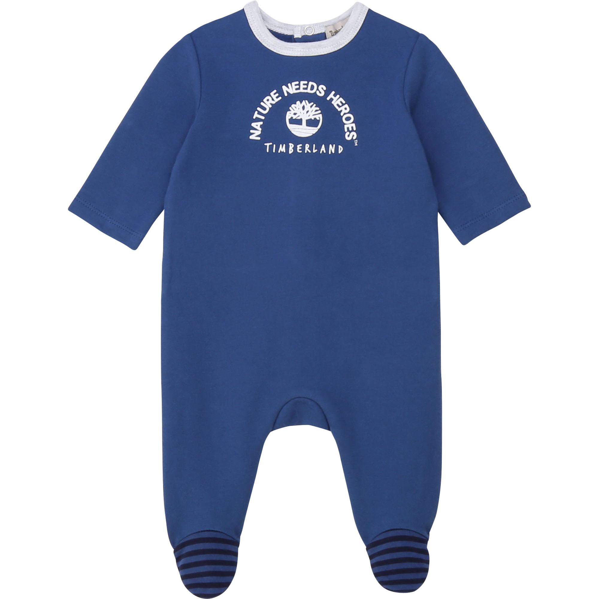 Pyjama en molleton TIMBERLAND BEBE COUCHE GARCON Bleu