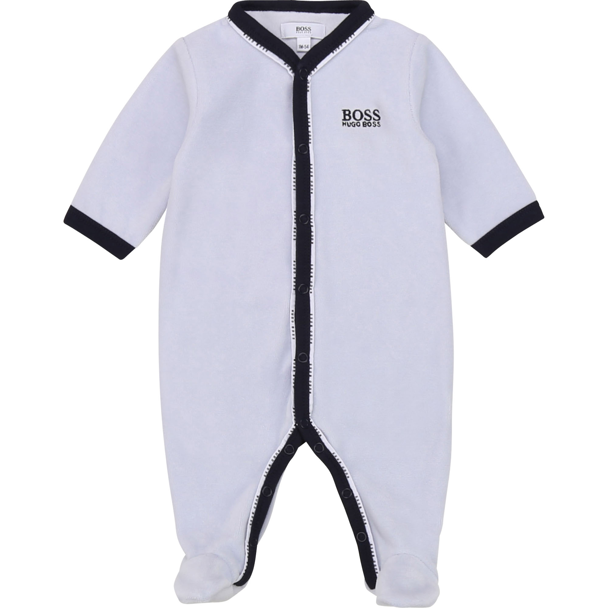 Pyjama en velours BOSS BEBE COUCHE GARCON Bleu