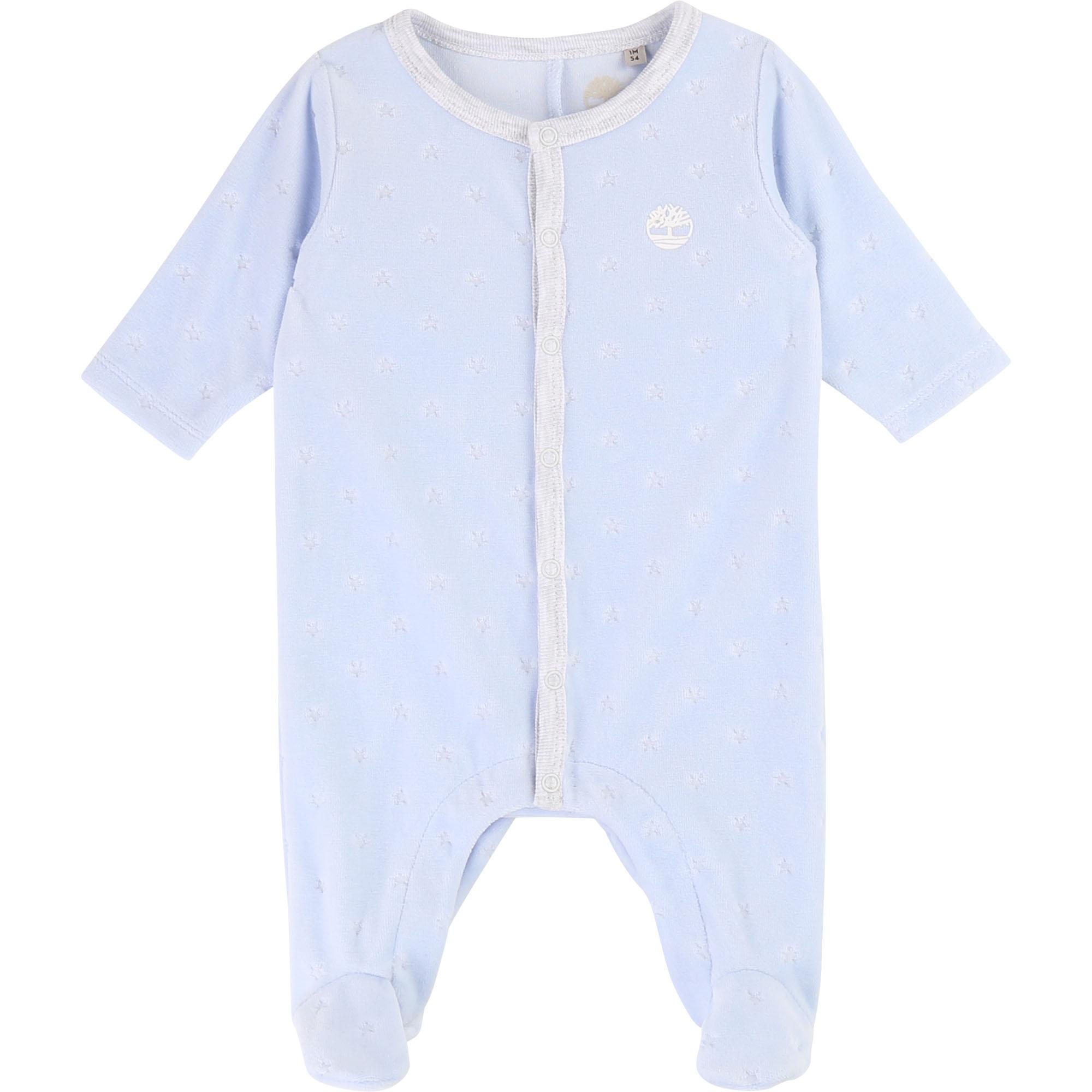 Pyjama en velours imprimé TIMBERLAND BEBE COUCHE GARCON Bleu