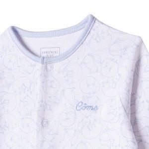 Pyjama imprimé en coton bio CARREMENT BEAU BEBE COUCHE GARCON Blanc