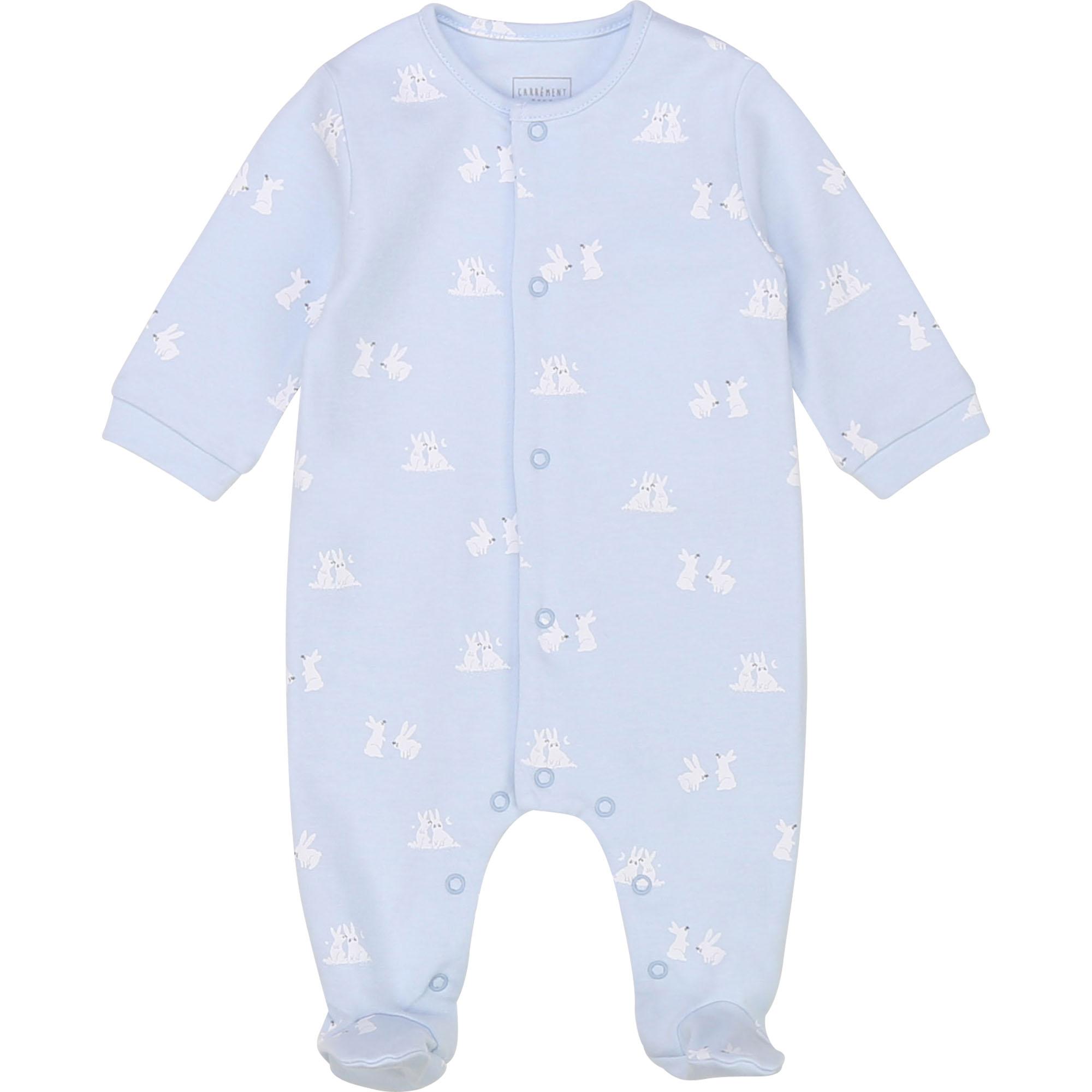 Pyjama imprimé en coton bio CARREMENT BEAU BEBE COUCHE GARCON Bleu