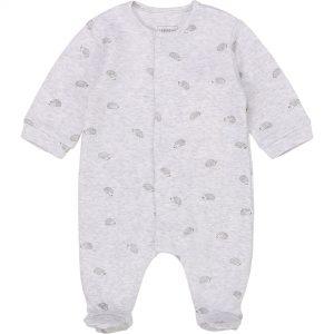 Pyjama imprimé en coton bio CARREMENT BEAU BEBE COUCHE GARCON Gris