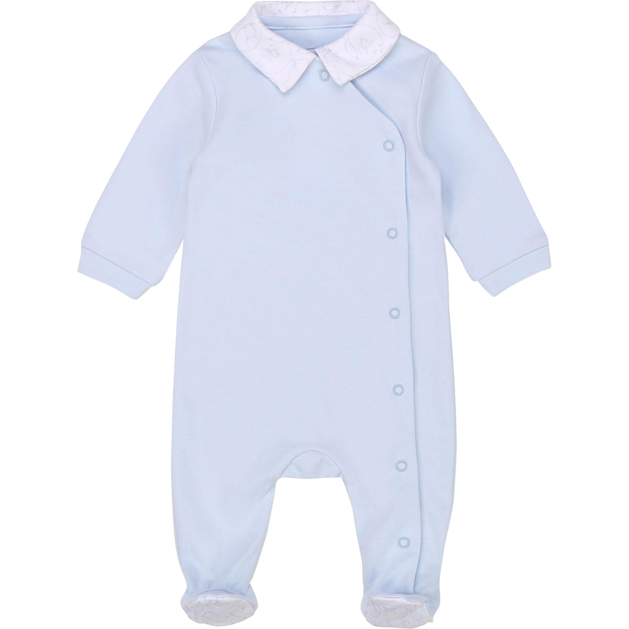 Pyjama maille interlock bio CARREMENT BEAU BEBE COUCHE GARCON Bleu