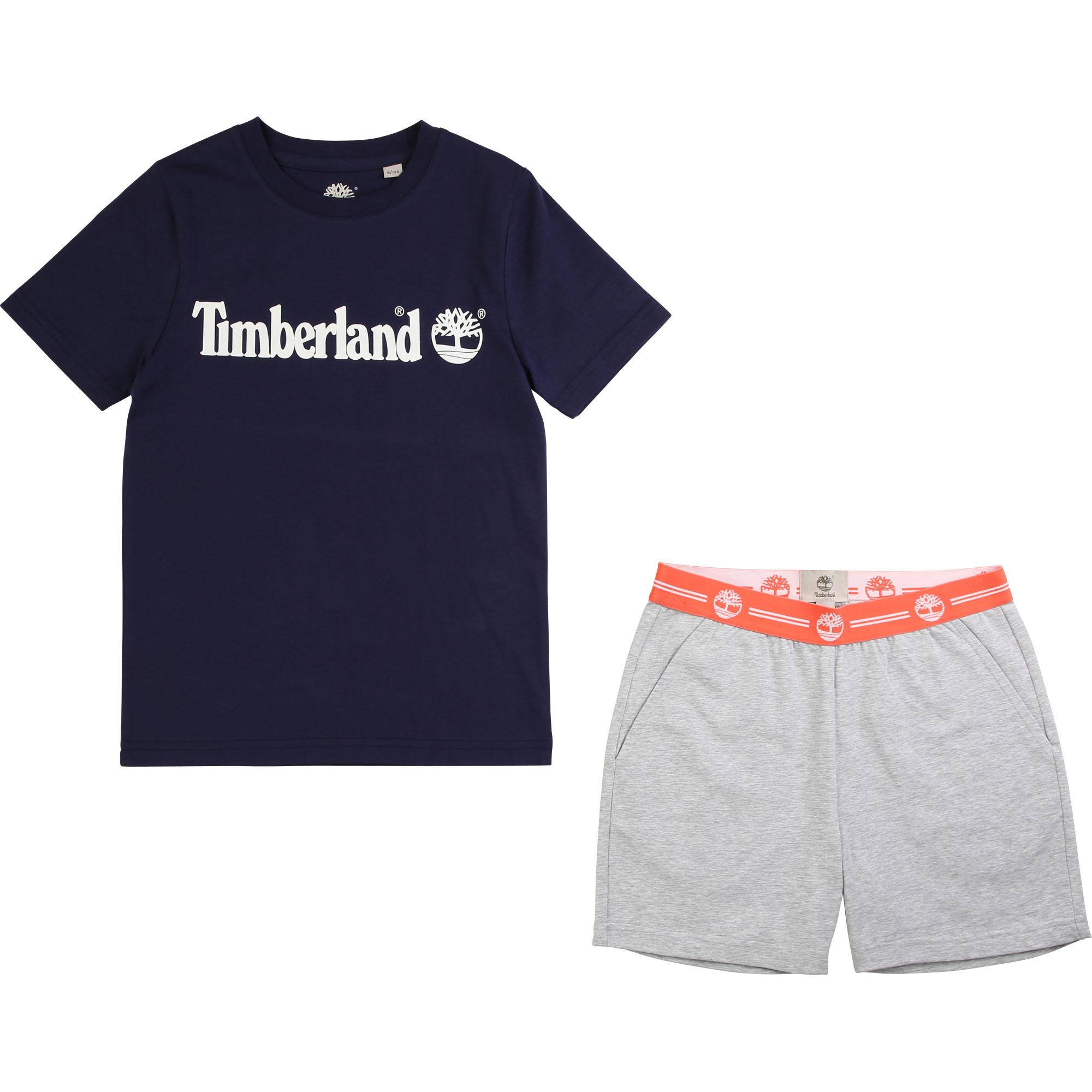 Pyjama short en coton bio TIMBERLAND ENFANT GARCON Bleu