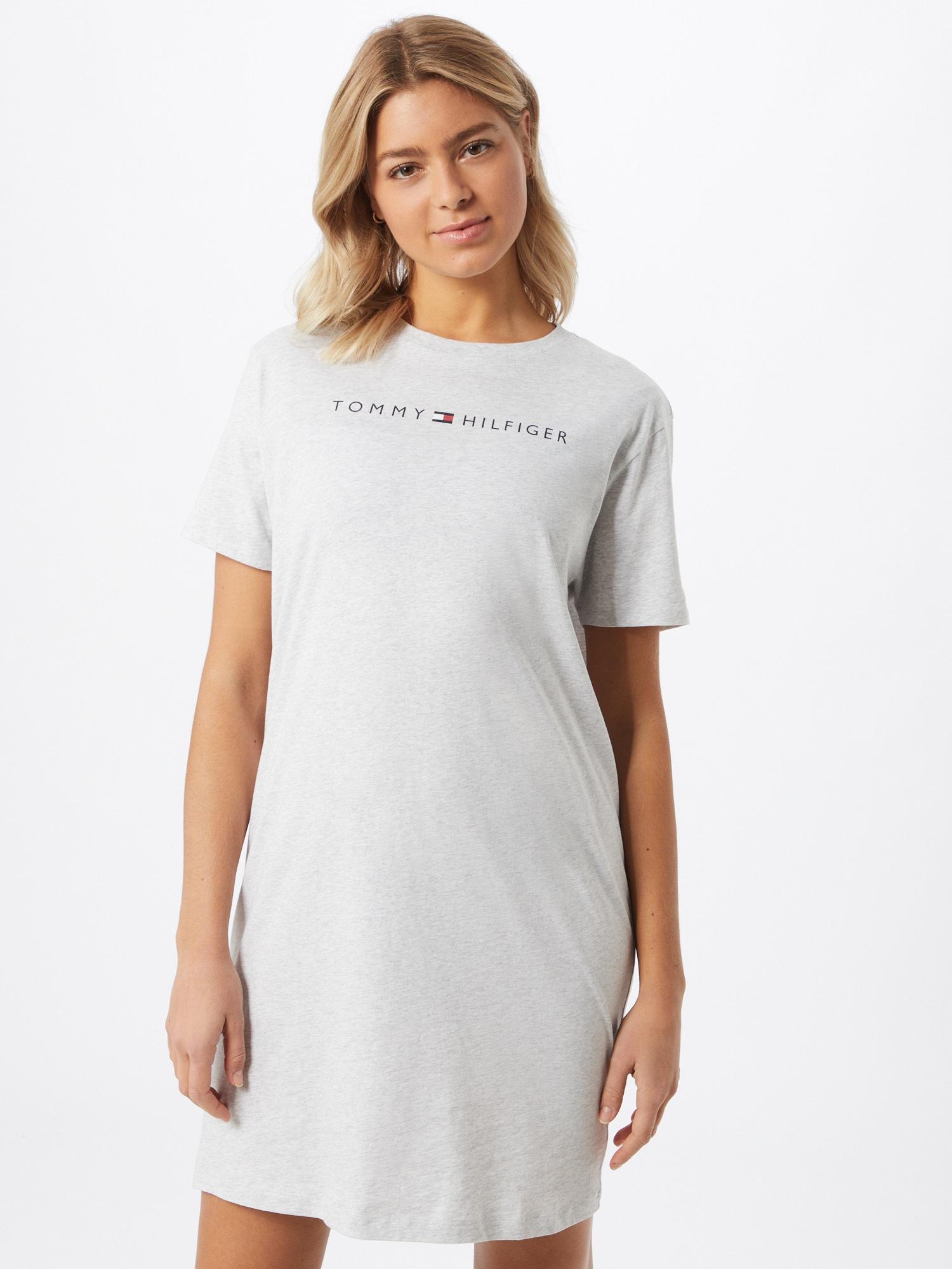 Tommy Hilfiger Underwear Chemise de nuit  gris clair / blanc / bleu foncé / rougeAbout You FR
