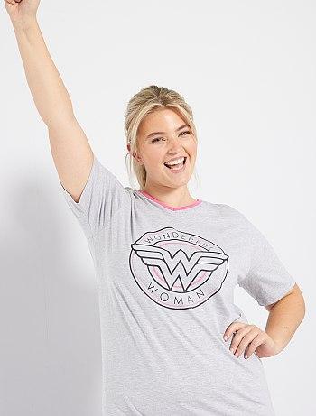 Pyjama 'Wonder Woman' gris/rose DC Comics