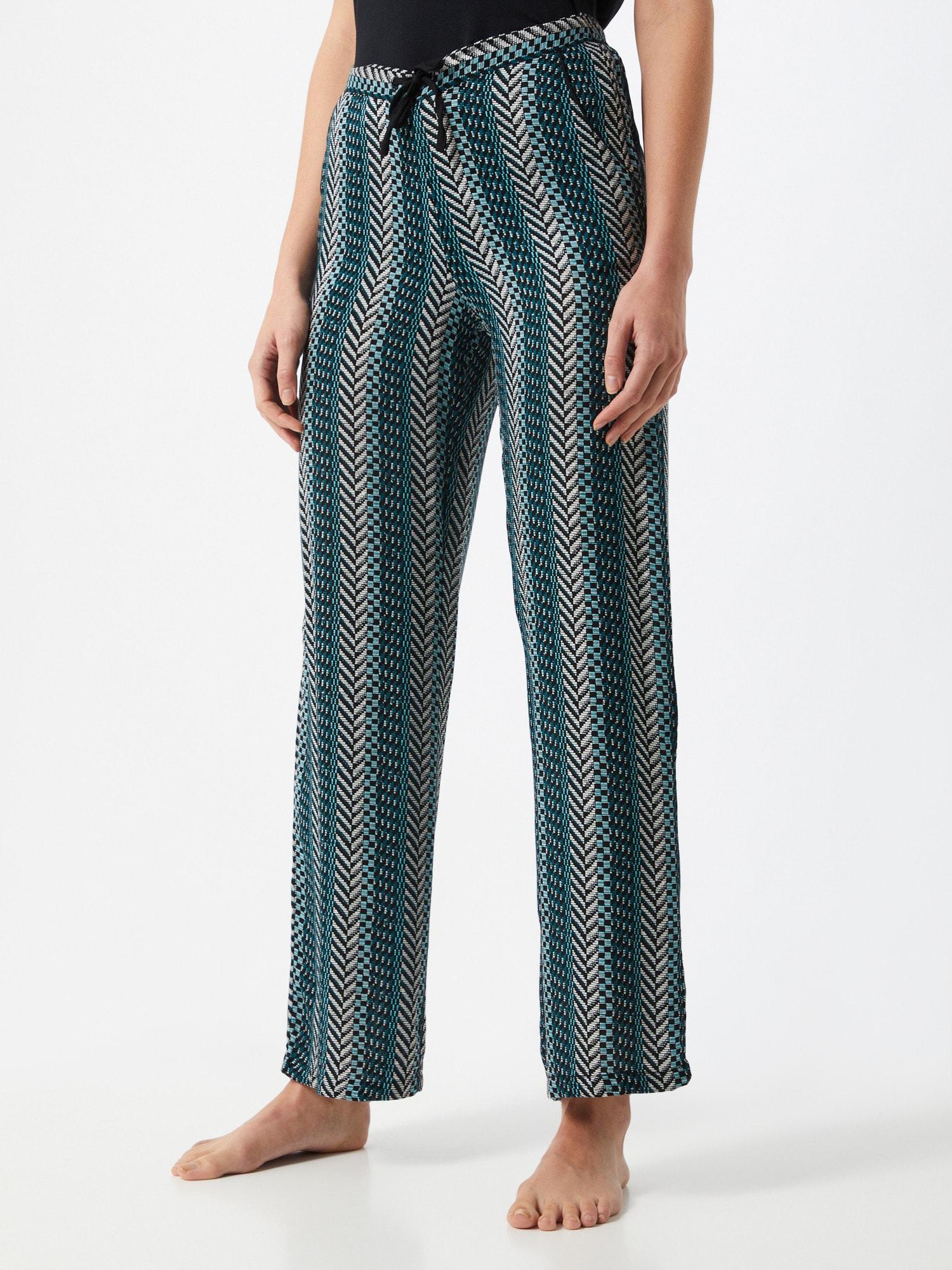 ETAM Pantalon de pyjama 'BAHOZ'  noir / bleu / blancAbout You FR