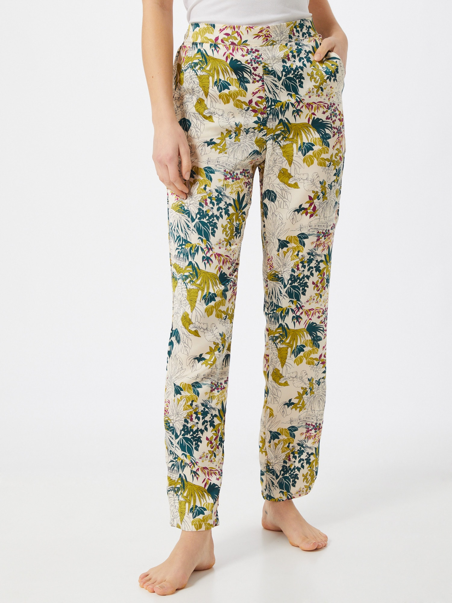 ETAM Pantalon de pyjama 'GANNY'  beige / vert / noir / jaune foncéAbout You FR
