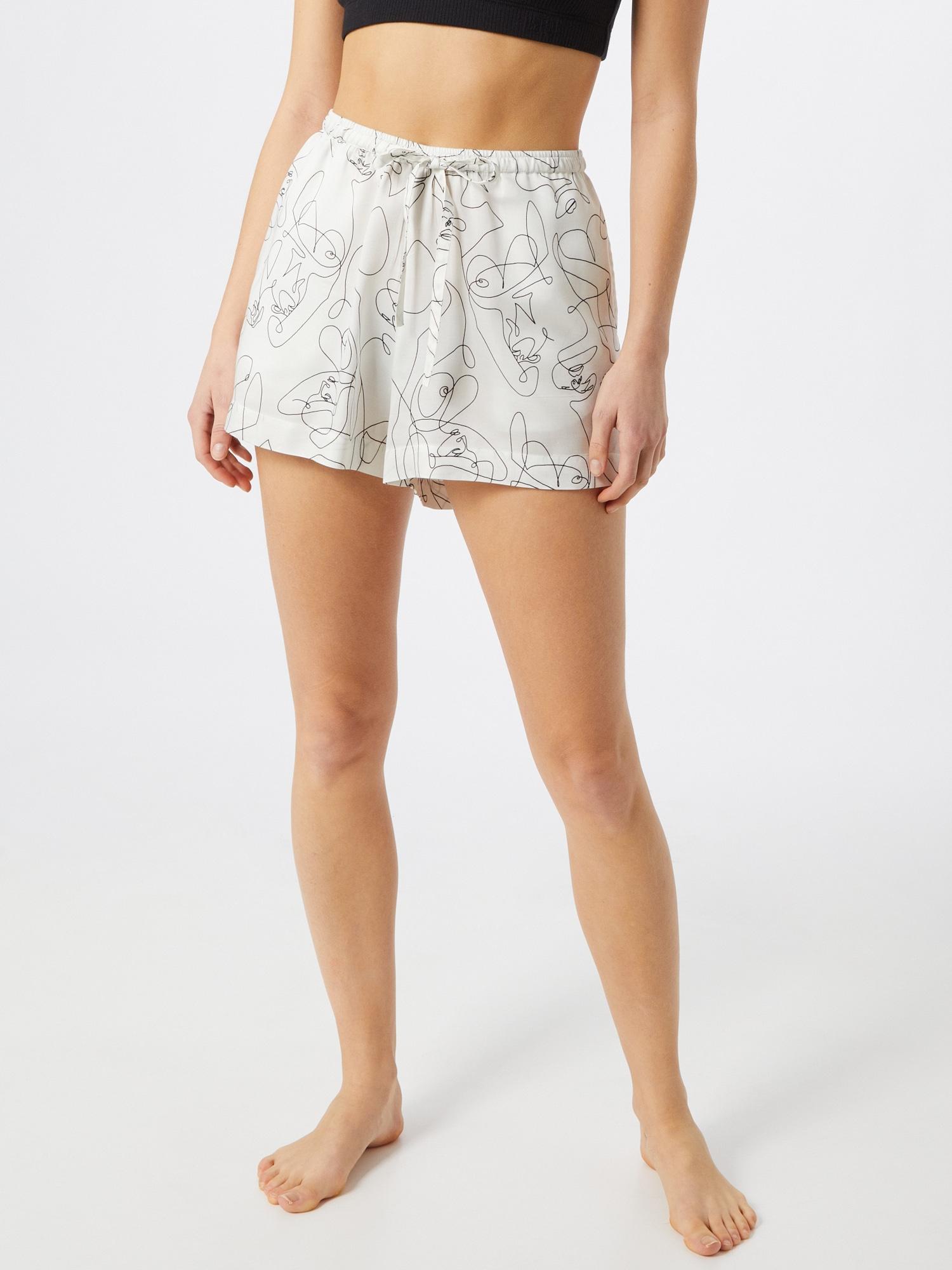 Underprotection Pantalon de pyjama 'Fie'  blanc naturel / noirAbout You FR