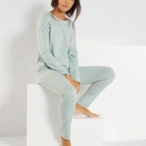 Pyjama éco-conçu bleu gris Kiabi
