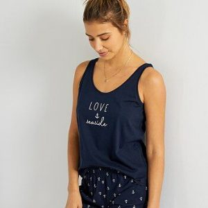 Pyjama imprimé bleu love Kiabi