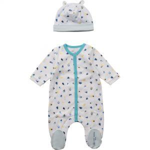 Ensemble pyjama + bonnet THE MARC JACOBS BEBE COUCHE UNISEXE Bleu