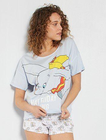 Ensemble pyjama court 'Dumbo' bleu/blanc Dumbo