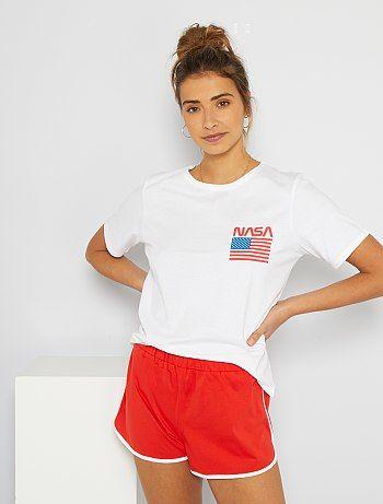 Pyjama 'NASA' blanc/rouge NASA