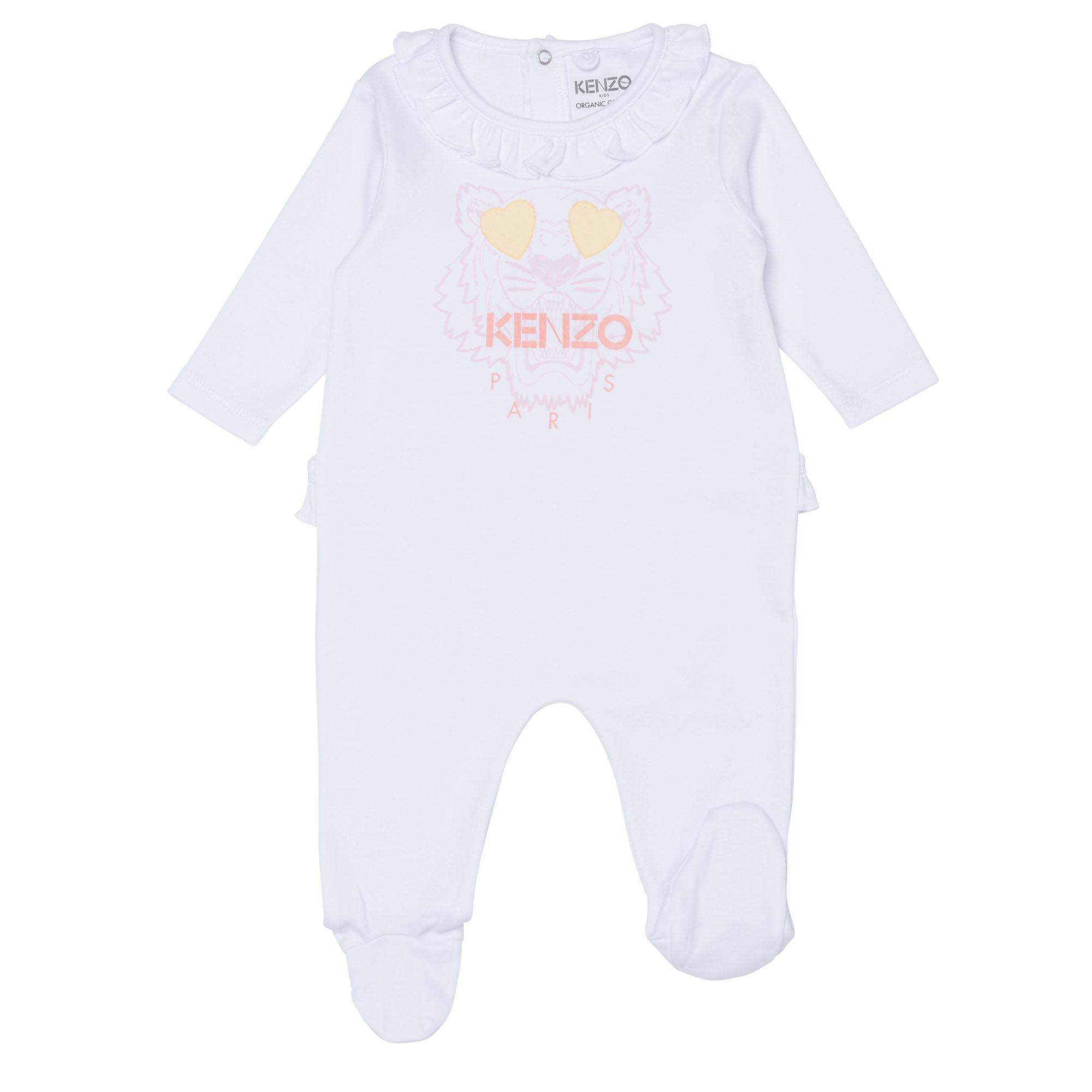 Pyjama en coton biologique KENZO KIDS BEBE COUCHE FILLE