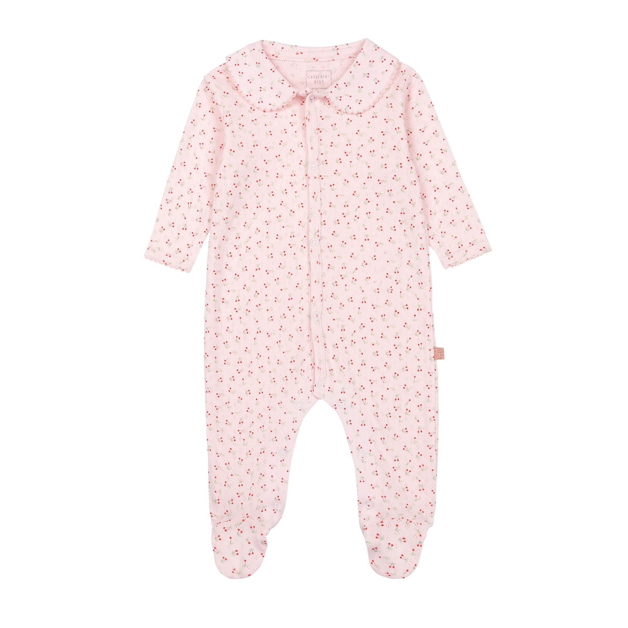 Pyjama en coton biologique avec boîte CARREMENT BEAU BEBE COUCHE FILLE Rose