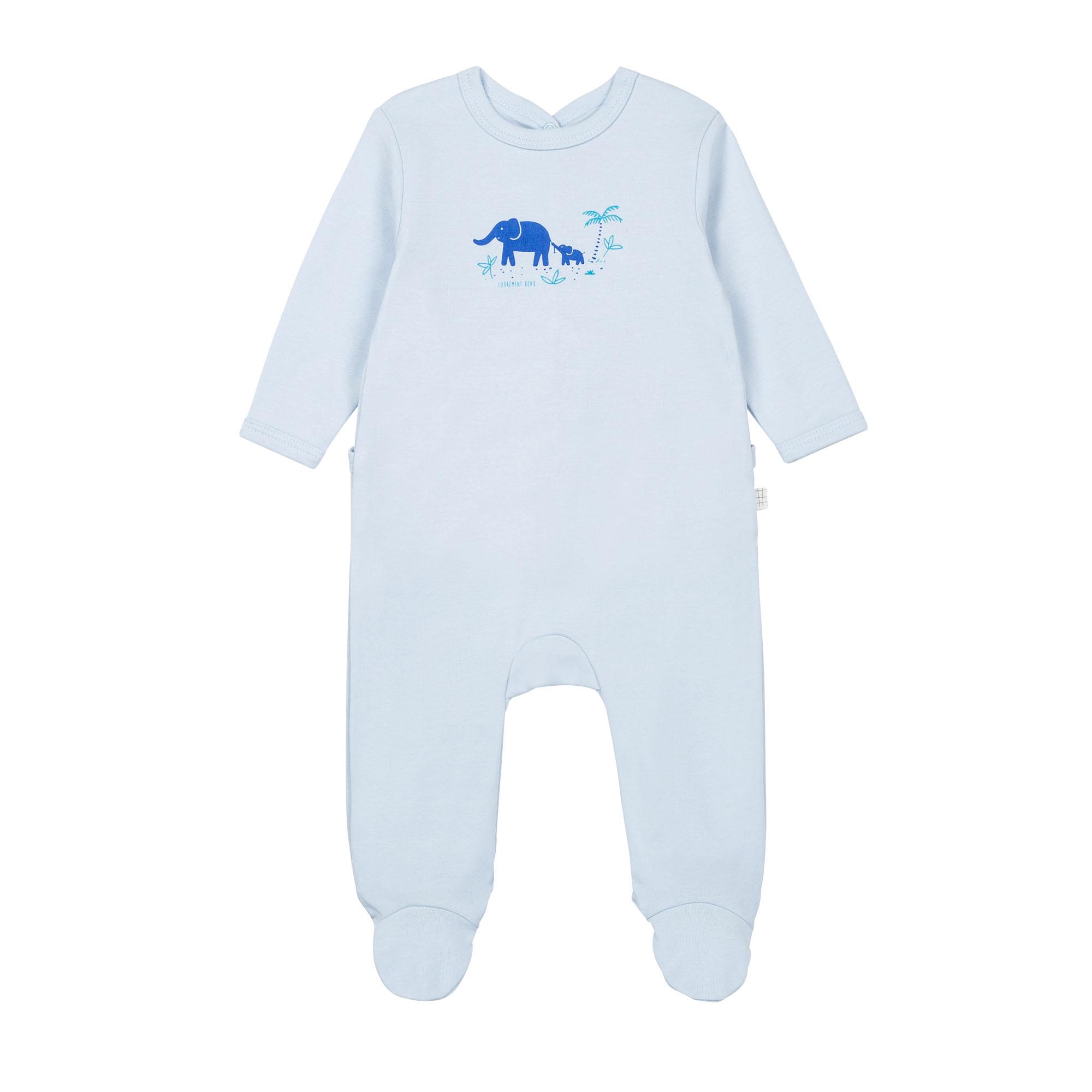 Pyjama en coton biologique avec boîte CARREMENT BEAU BEBE COUCHE GARCON Bleu