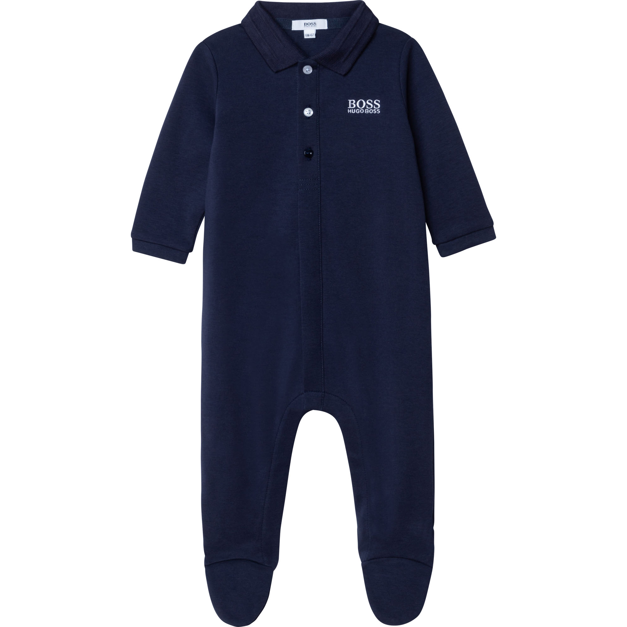 Pyjama en interlock coton BOSS BEBE COUCHE GARCON Bleu