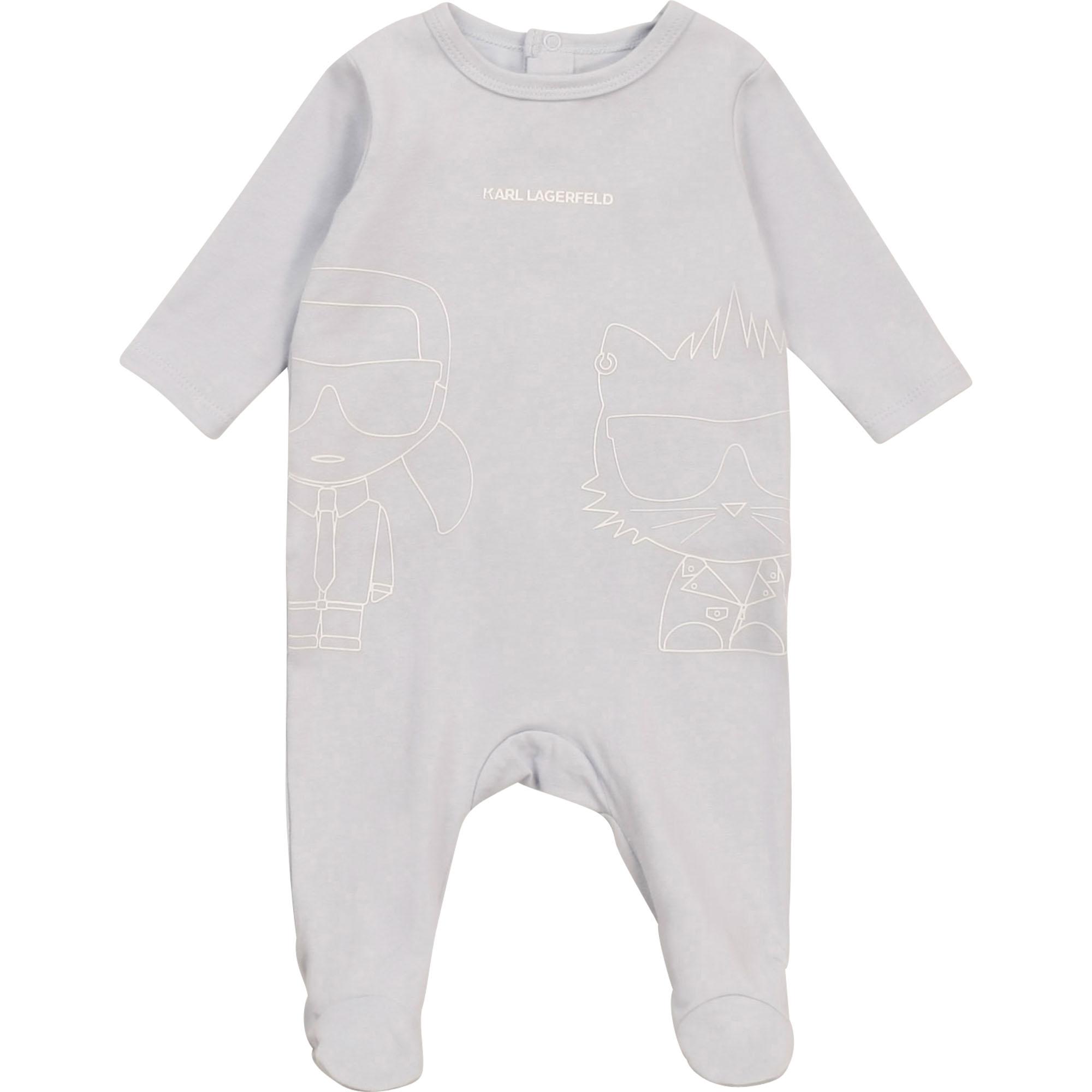 Pyjama en jersey coton KARL LAGERFELD KIDS BEBE COUCHE GARCON Bleu