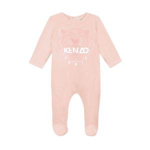 Pyjama en velours de coton KENZO KIDS BEBE COUCHE FILLE