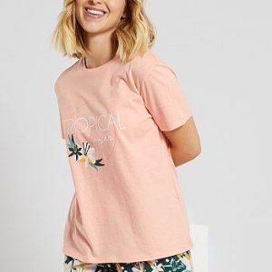 Pyjama short imprimé rose Kiabi